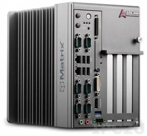 MXC-2300-3S Безвентиляторный встраиваемый компьютер с процессором Intel Atom E3845, предустановленно 4GB DDR3L, слоты 3x PCI, 9-32В DC