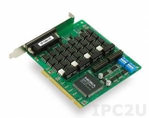 CP-134U-I-T 4-портовая плата RS-422/485 для шины Universal PCI, гальваническая изоляция 2 кВ, без кабеля, -40...+85С
