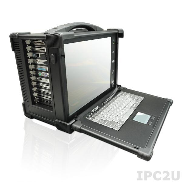"iROBO-4000-53i3R Переносной компьютер с 15.1"" TFT LCD/87кл/Touchpad/Intel Core-i3 3220 3.3ГГц/2x2Гб DDR3/1Тб HDD SATA3 (серверный)/RAID 1,0/DVD-RW/2xGb LAN/2xCOM/1xLPT, PS/2, 4xUSB 2.0, 2xUSB 3.0/1xPCIe x16/4xPCIe x1/3xPCI/БП 400Вт/Сумка"