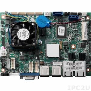 "EBC-354DL Процессорная плата формата 3.5"", Intel Atom D2550 1.86ГГц, NM10 Express чипсет, DDR3, VGA/2xLVDS, 2xGb LAN, 2xSATA, 3xRS-232, 1xRS-232/422/485, 6xUSB, DIO, Audio, слоты расширения 2xMini PCIe, вход +12В DC, без комплекта кабелей"