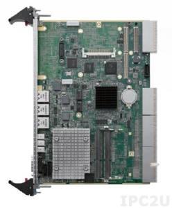 cPCI-6615/D525/M2G Процессорная плата 6U CompactPCI 4HP Intel Atom D525, 2GB DDR3-800 SODIMM, GbE x3, COM, VGA, USB x3, SATA x2, CF, PMC