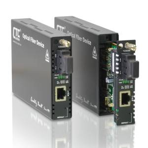 FRM220-1000M-SC001 Managed Web Smart OAM Gigabit Ethernet Media Converter 10/100/1000Base-T to 1000Base-FX Multi-mode SC Port, 550m Distance, 12VDC Input Power, 0..50C Operating Temperature