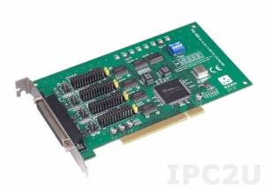 PCI-1612C-CE Universal PCI адаптер 4xRS-232/422/485 разъем DB37 Female, c защитой от перенапряжения и изоляцией, OPT4A кабель 1xDB37 в 4xDB9 Male
