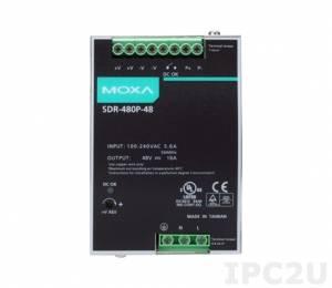 SDR-480P-48 Блок питания для монтажа на DIN-рейку, 480W/10A 48 VDC с универсальным входом питания 90...264 VAC или 127...370 VDC, -25...+70C, работа на общую нагрузку до 3840 W