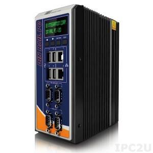 "DRPC-120-BTi-E5-OLED/2G Безвентиляторный компактный компьютер на DIN-рейку, Intel E3845 1.91ГГц, 2Гб DDR3L, 2xГбит LAN, 2xRS232/2xRS422/485, HDMI, VGA, DVI-I, 4xUSB, отсек 2.5"" SATA HDD/SDD , mSATA, 8xDI/8xDO, IEI iRIS-2400 (опция), OLED, 9..+30В DC"