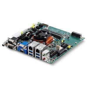 AmITX-BT-I-E3845 Встраиваемая процессорная плата Mini-ITX с Intel Atom E3845 1.91ГГц, DDR3L RAM, VGA/24-bit LVDS/HDMI, 2xGB LAN, 6xCOM (4 внутр.), 4xUSB 3.0, 6xUSB 2.0 (4 внутр.), mSATA, PCIe x1, MiniPCIe, GPIO, Audio
