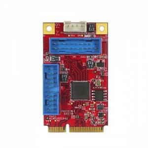 EMPU-3401-C1 Конвертер интерфейса mPCIe в 4x USB 3, 0...70C, в комплекте кабель питания 5В, 4pin (F) - Molex 4pin (M) и кабель 5В 19pin - 2xUSB 3.0