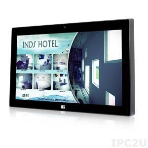 "AFL3-W15B-H81-i3/PC/4G-R10 Панельная рабочая станция с 15.6"" TFT LCD, емкостный сенсорный экран, Intel Core i3-4330TE 2.4ГГц, 4Гб DDR3, 2.5"" SATA HDD отсек, 1xCOM, 6xUSB, 2xGbE LAN, mSATA, HDMI, камера 2МП, Wi-Fi, Аудио, питание 9-30В DC"