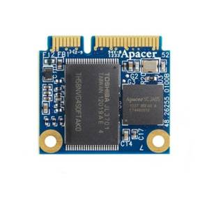 APSDM128GM5AN-PCM APACER mSATA SSD, SATA 2, 128Гб, MLC, рабочая температура 0..70C