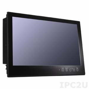 MD-224X 24'' Морской LCD Монитор, 1920x1080, 1 DVI-D/VGA, RS-232 & RS-422/485, LED подсветка, два источника питания AC / DC, защищенный емкостной мульти-тач экран