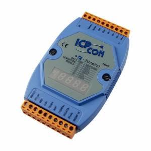 I-7016PD Модуль ввода - вывода, 1 канал ввода сигнала с тензодатчика / 1 канал аналогового вывода / 1 канал дискретного ввода / 4 канала дискретного вывода, с индикацией