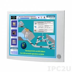 """IPPC-6192A-R2AE Панельная рабочая станция с 19"""" TFT LCD LED, резистивный сенсорный экран, поддержка Intel Core i7/i5/i3 Haswell, 2x240-pin DDR3-1066/1333, 2x2.5"""" SATA HDD, 2xLAN, 3xCOM, 5xUSB, VGA, 2xPCI, питание 100-240В AC 350Вт"""