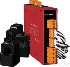 PM-3114-160 4-канальный, 1-фазный компактный измеритель напряжения и тока, CT:4pcs, кабель 16мм (0-100A), до 300 В, 50/60Гц, Modbus RTU