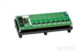 SCMPB05-3 Плата клеммников для установки 8 модулей серии SCM5B, монтаж на DIN-рейку, без цепей компенсатора холодного спая