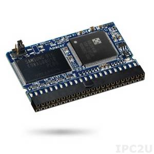 AP-FM0256E20S5S-QT1H APACER Disk on module, IDE 44 контакта, 256Мб, SLC, стандартная скорость, вертикальный, 5В, рабочая температура 0..70C