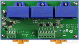 DN-843I-CT-10 3-канальный преобразователь тока, вход 10 A, выход 10 В (RoHS)