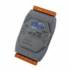 M-7065BD Модуль ввода - вывода, 5 каналов DC SSR вывода / 4 канала дискретного ввода, c изоляцией до 3750 В, Modbus RTU, с индикацией