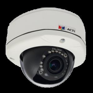 E84A 2 МП уличная купольная IP-камера, вариофокальный объектив f2.8-12мм/F1.4, H.264, 1080p/30кадр/сек, день/ночь, адапт. ИК подсветка, WDR, SLLS, DNR, Аудио, Micro SDHC/SDXC, PoE, IP67, IK10, DI/DO, -40C...+50C