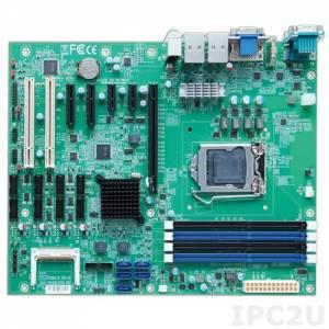 RUBY-D716VG2AR Процессорная плата ATX Intel Q87 Core i3/i5/i7 LGA1150 с DVI-D/VGA/HDMI, до 32Гб DDR3, 2xGb LAN, 4xUSB3.0, 8xUSB2.0, 6xCOM, GPIO, 5xSATA, RAID 0/1/5/10, 1x PCIe x16, 2x PCIe x1, 2x PCIe x4(x1 сигнал), 2x PCI, Аудио