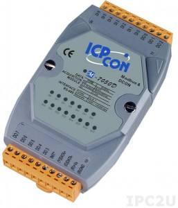 M-7050D Модуль ввода - вывода, 7 канала дискретного ввода / 8 каналов дискретного вывода, с индикацией, Modbus RTU