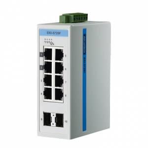 EKI-5729FI-AE Коммутатор Gigabit Ethernet ProView, 8 портов RJ-45 + 2 порта SFP, -40...+75C