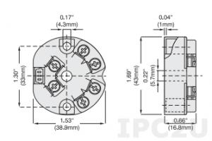 SCTP20-02 Нормализатор сигналов температуры двухпроводной, настраиваемый, вход: RTD/термопара/мВ, выход: 4...20 мА