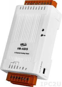 tM-AD5 Модуль ввода, 5 каналов аналогового ввода, Modbus RTU/ASCII, DCON