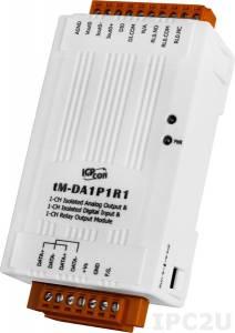 tM-DA1P1R1 Модуль ввода - вывода, 1 канал аналогового вывода с изоляцией / 1 канал дискретного ввода с изоляцией / 1 канал релейного вывода с изоляцией