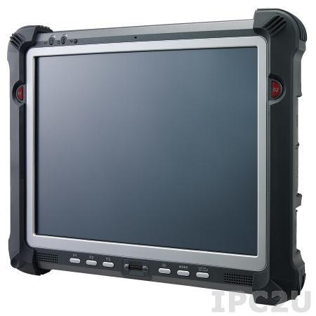 "PWS-770-S3AWPC001E Защищенный планшетный компьютер с 10.4"" XGA LED, резистивный сенсорный (повыш.яркость), Intel Atom N2600 1.6ГГц, 2Гб DDR3, 32Гб SSD, 1xSD card слот, 2xUSB 2.0, 1xRS-232, VGA, WLAN, Bluetooth, GPS, 3G, камера 2.0 МП, Аудио, питание 19В DC, Win7 Pro"