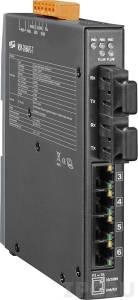 NSM-206AFCS-60T Промышленный 6-портовый неуправляемый коммутатор: 4 порта 10/100 Base-T Ethernet, 2 порта 100BaseFX (одномодовое волокно, разъем SC, до 60 км), металлический корпус