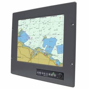 """R12L600-MRM2 12.1"""" TFT LCD промышленный монитор для морского использования, вход VGA, IP65 по передней панели"""