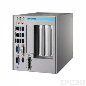 UNO-3073G-C54E Встраиваемый компьютер c CPU Intel Celeron 847E 1.1ГГц, 4ГБ DDR3 RAM, DVI-I, HDMI, DP, 2xGB LAN, 2xRS-232/422/485, 2xRS-232 (опция), 1xPCIe x16, 2xPCI, 2xMiniPCIe