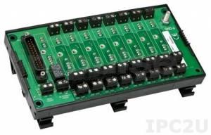 8BP08-2 Плата клеммников для установки 8 модулей нормализаторов сигналов серии 8B, без датчиков компенсации холодного спая, до 50В