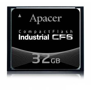 AP-CF128GLAFS-NR APACER Индустриальный CF6 CompactFlash 128Б, MLC, рабочая температура 0..70 C