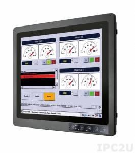 """R19L100-67FTP Промышленный 19"""" монитор с IP67 по всему корпусу, 1280x1024, передняя панель из алюминия, 3xM12 (VGA, USB, DC), с блоком питания, вход питания 9-36В DC (M12)"""