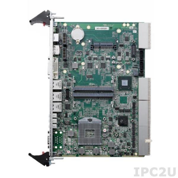 cPCI-ET6210/710Q/M8G Процессорная плата 6U CompactPCI Core i7-2710QE с 8Гб DDR3-1333, 3xGb LAN, 2xCOM, 3xUSB, 2xSATA, CF, DVI, DP, KB/MS, PMC/XMC, -40...+70C