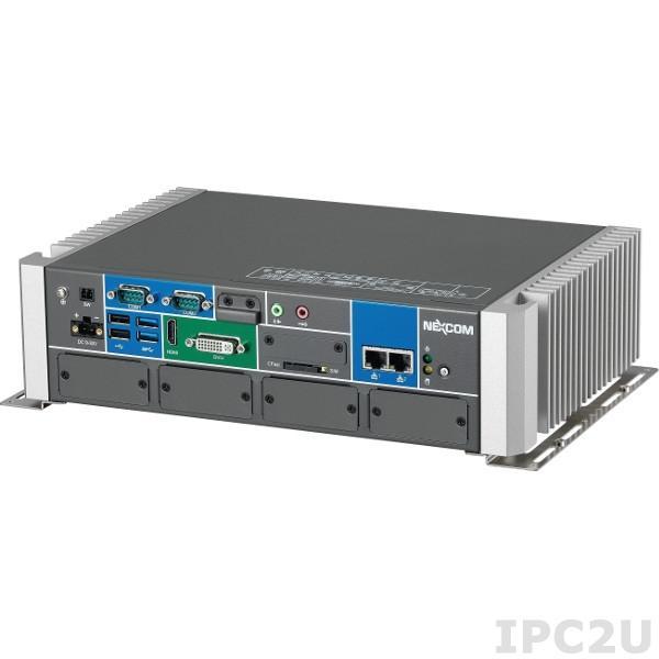 NISE-300-PBM Встраиваемый компьютер, Intel Core i5-4402E 1.6ГГц, до 8Гб DDR3 RAM, DVI-I, HDMI, 2xGb LAN, 4xRS-232, 2xRS-232/422/485, 4xUSB, Audio, CFast слот, модуль ProfiBus для автоматизации, 4xMini-PCIe, 9..30В DC, без адаптера питания