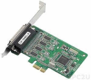 CP-104EL-A w/o Cable 4-портовая низкопрофильная плата RS-232 для шины PCI Express, без кабеля