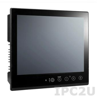 "MPC-2157Z-T Морской безвентиляторный панельный компьютер 15"", емкостный сенсорный экран, Intel Core i7 3517UE 1.7ГГц, 4Гб SDRAM, 1x2.5"" HDD/SSD, CFast, DVI-D, VGA, 2xGbE LAN, 2xRS-232/422/485, Аудио, питание AC+DC"