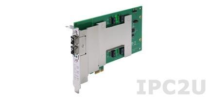 DE-FX02-SFP-T Модуль 2 оптических порта 100 Mbps, 2 SFP слота, интерфейс PCIe, для DA-820