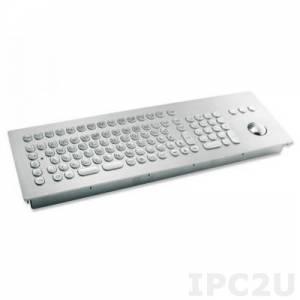 TKV-105-TB38V-MODUL-PS/2 Встраиваемая промышленная вандалоустойчивая IP65 клавиатура, 105 клавиш, трекбол 38мм, PS/2