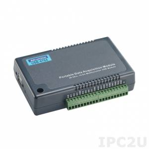 USB-4704-AE Модуль ввода-вывода, 8xAI 48 кГц, 2xAO, 8xDI, 8xDO, USB