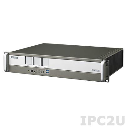 "ITA-2230-10A1E Промышленный безвентиляторный компьютер 2U в 19"" стойку для Ж/Д, Intel Core i7-3555LE 2.5ГГц, 4Гб DDR3, 1x3.5"" HDD отсек, VGA, HDMI, 2xGbE LAN, 8xUSB, 2xCOM, 1xmSATA, 1xGPIO, Аудио, 3xITAM, 1xPC/104+, 1xMini PCIe, два разъема питания AC DC"