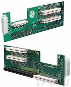 PCI-5SDA-RS 2U двухсторонняя объединительная плата 1xPICMG, 4xPCI слотов, ATX, RoHS