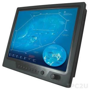 "NPD1744-ETAW-J01 17"" TFT LCD LED монитор для морского применения, 1000 нит, 1280x1024, резистивный сенсорный экран (USB), 2xVGA, 2xDVI, 3xCompositex, питание 9-36В DC"
