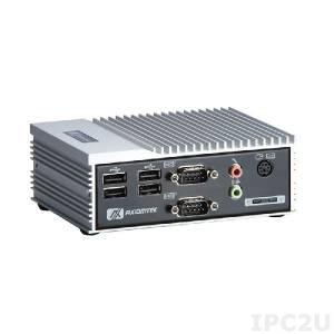 "eBOX530-820-FL1.1G-RC-EU Встраиваемый компьютер с Intel Atom Z510 1.1ГГц, VGA, 1xDDR2 SODIMM до 2Гб, 2xCOM, 1xLAN, 4xUSB, Audio, CF, отсек для 1x2.5"" SATA HDD, 5В DC"