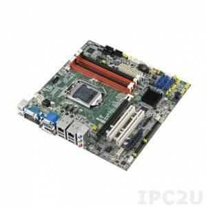 AIMB-584QG2-00A1E Процессорная плата Micro-ATX, Q87, Core i7/i5/i3, LGA 1150, до 32ГБ DDR3 DIMM, VGA, DVI, DP, 2xGbE, 6xSATA 3, 6xCOM, 12xUSB, слоты расширения 1xPCI Express x16, 1xPCI Express x4, 2xPCI