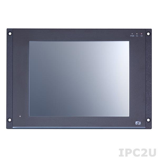 """GOT-710-837-R-E3845-110VDC Безвентиляторный панельный компьютер для железнодорожного транспорта 10.4"""" SGVA, резистивный сенсорный экран, Intel Atom E3845 1.9ГГц, 4Гб DDR3, 16Гб flash, 1xmSATA, 2xCOM, GB LAN, 2xUSB 2.0, 2xPCIe Mini, CAN, DIO, Audio, питание 110В DC, -25...+70C"""