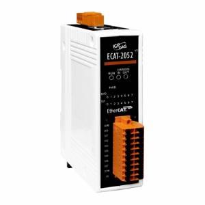 ECAT-2052 Модуль ввода-вывода, 8 каналов дискретного ввода, 8 каналов дискретного вывода, EtherCAT