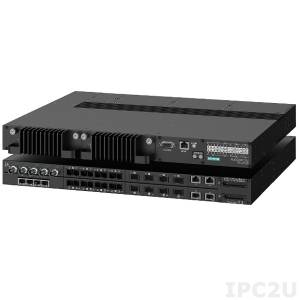 Ruggedcom-RSG2488 Industrial Managed Ethernet Switch with 16x 10/100/1000BASE-TX ports, Layer 2, 24VDC Input Power, -40..85C Operating Temperature